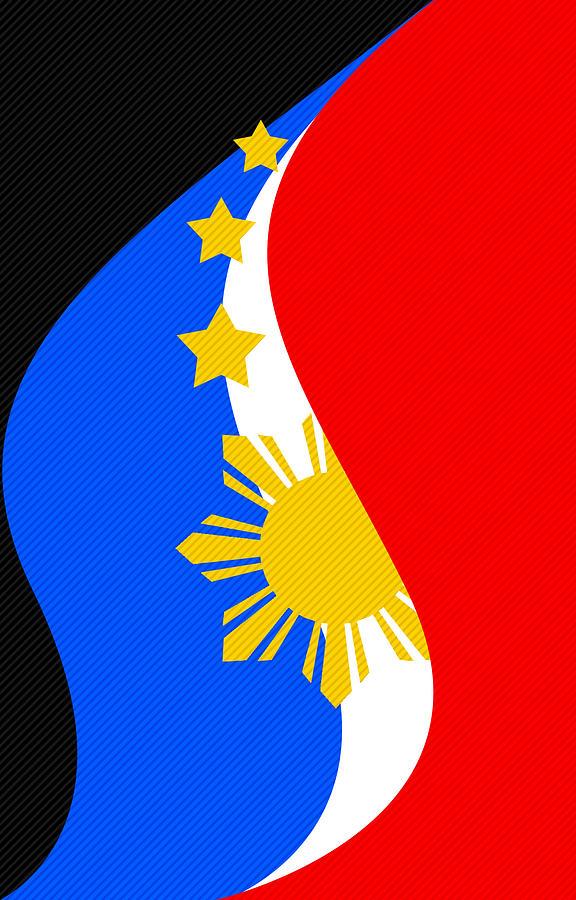 Philippine Flag Mobile Phone Case Design Digital Art By Jerome Obille