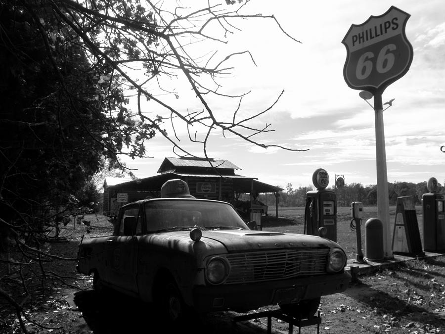 Ranchero Photograph - Phillips 66 Ranchero And Pumps by Kim Galluzzo Wozniak