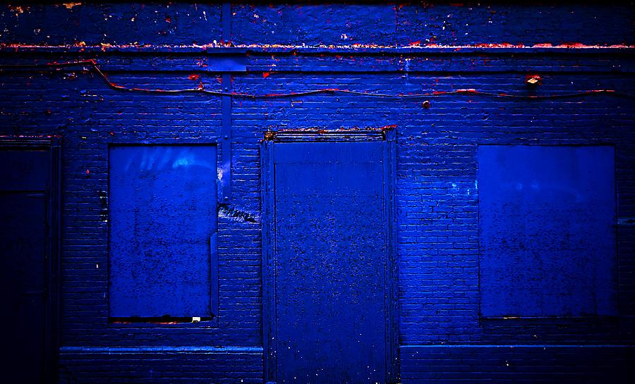 Blue Building Photograph - Philly Blues by Beth Akerman