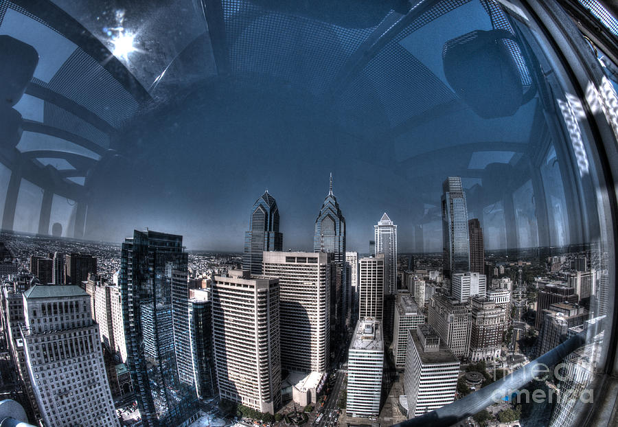 Philadelphia Photograph - Philly In A Fish Bowl by Mark Ayzenberg