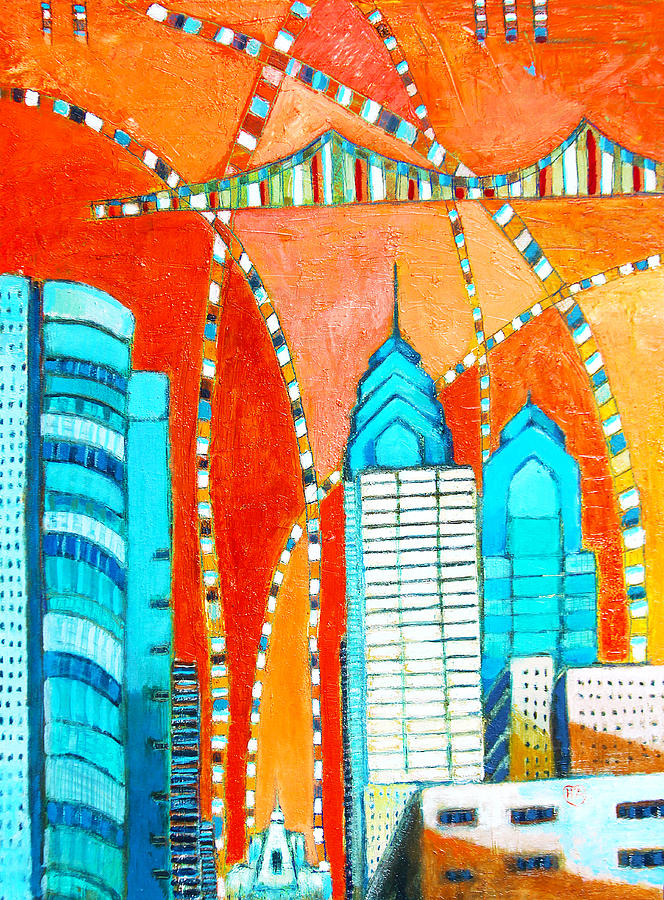 Colors Painting - Phillyscape 1 by Habib Ayat