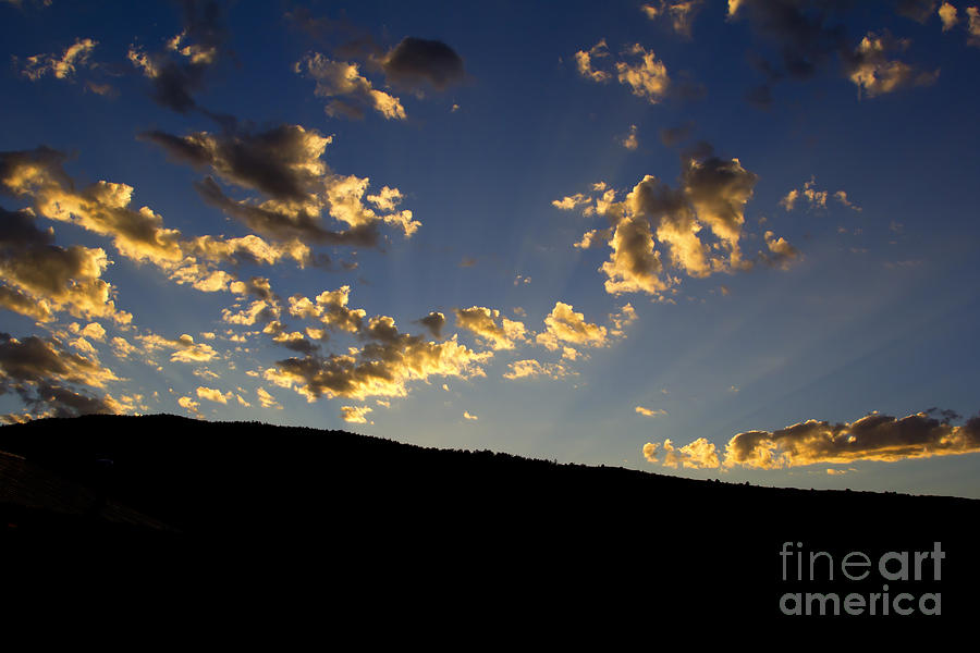 Backpacking Photograph - Philmont Sunset by Sheldon Perry