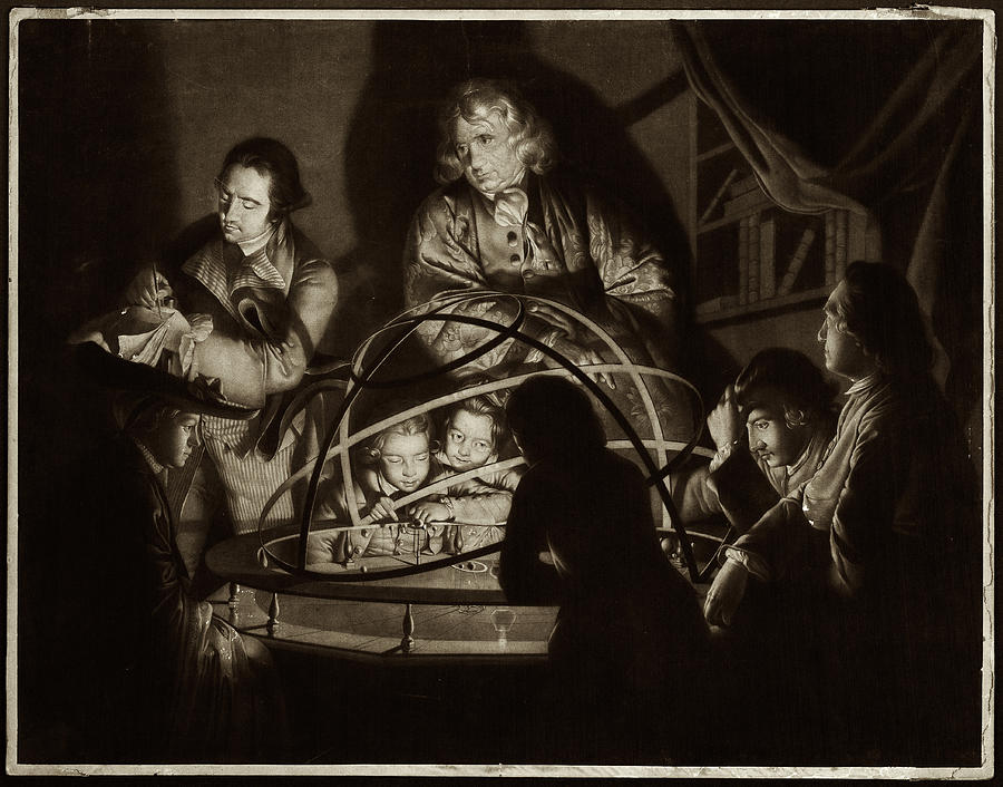 18th Century Photograph - Philosopher Giving Lecture On The Orrery by Museum Of The History Of Science/oxford University Images