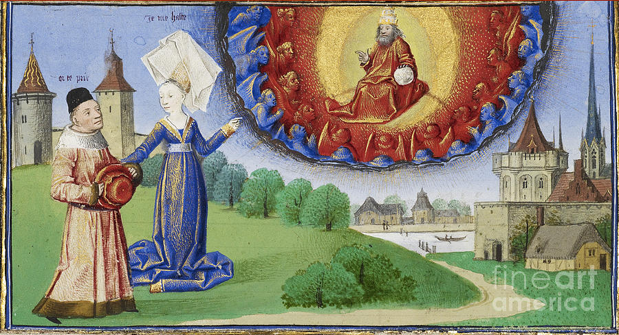 Boethius Photograph - Philosophy Instructs Boethius On God by Getty Research Institute