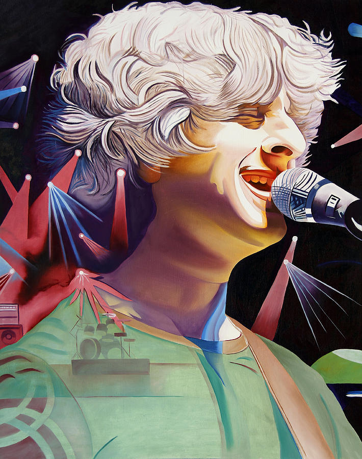Phish Painting - Phish Full Band Gordon by Joshua Morton