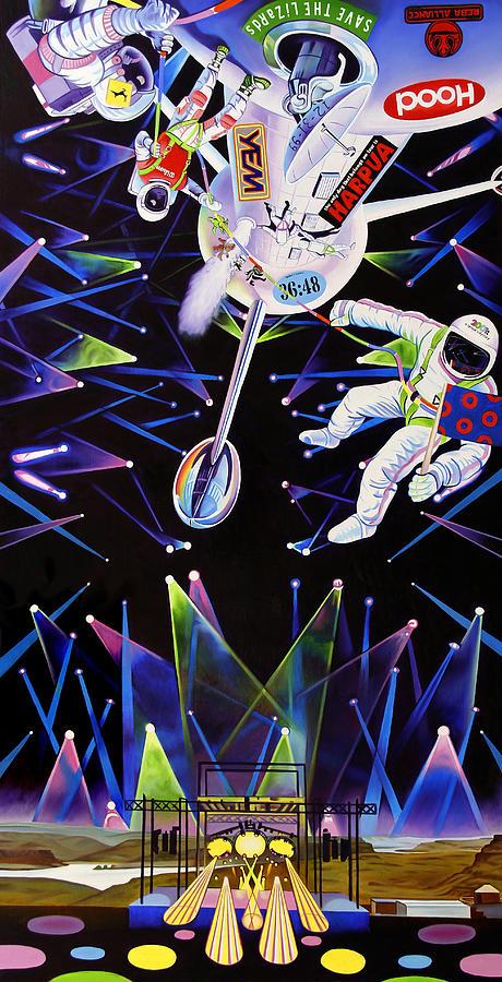 Phish Painting - Phish-The Gorge a Space Jam by Joshua Morton