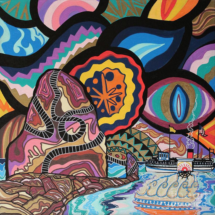 Catalina Painting - Phoenix by Carlos Martinez