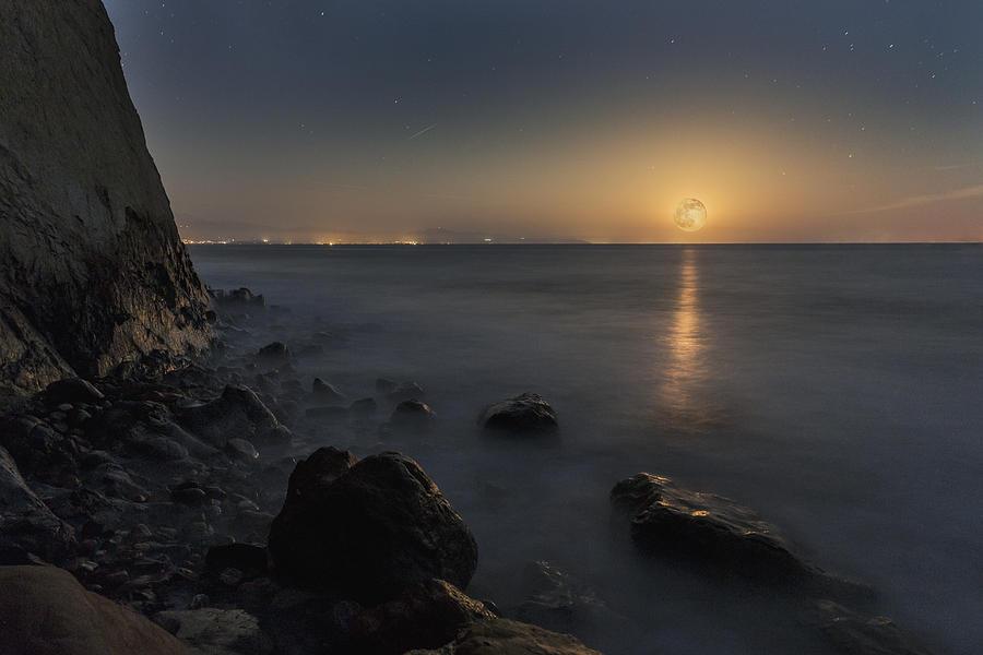 Moon Photograph - Phoenix Moon Rising by Bryan Toro