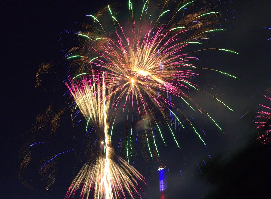 Firework Photograph - Phoenix Resurrection by Tim Leung