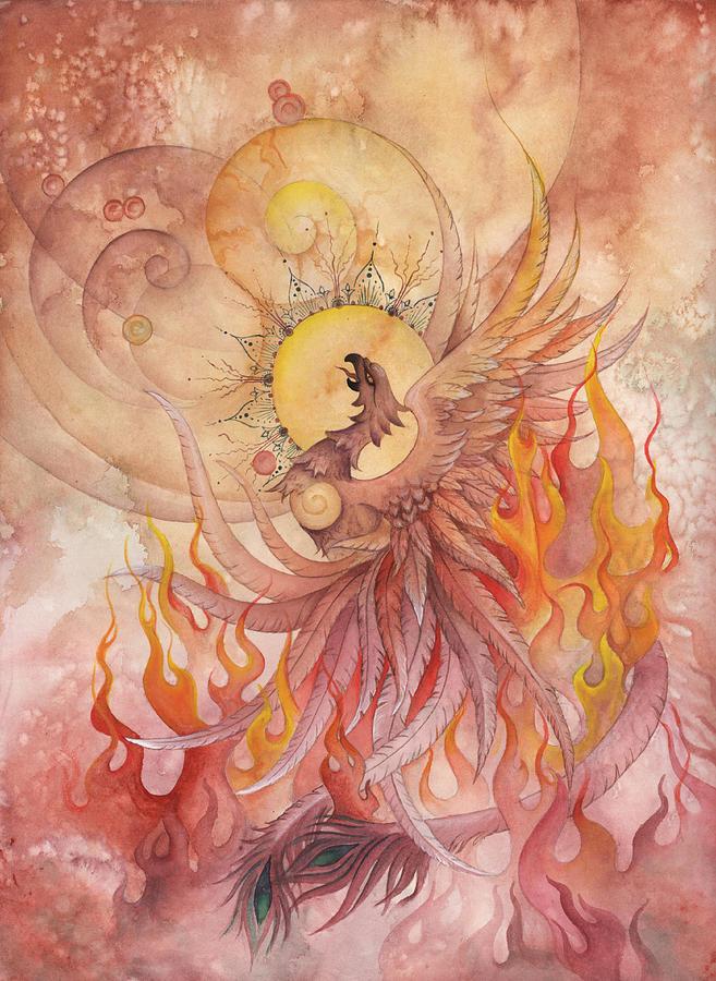Phoenix Rising Painting - Phoenix Rising by Ellen Starr