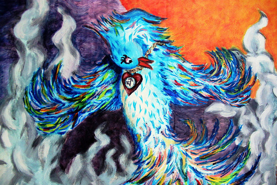 Phoenix Painting - Phoenix Rising by Mary Burr