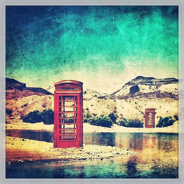 Summer Photograph - #phone #telephone #box #booth #desert by Jill Battaglia