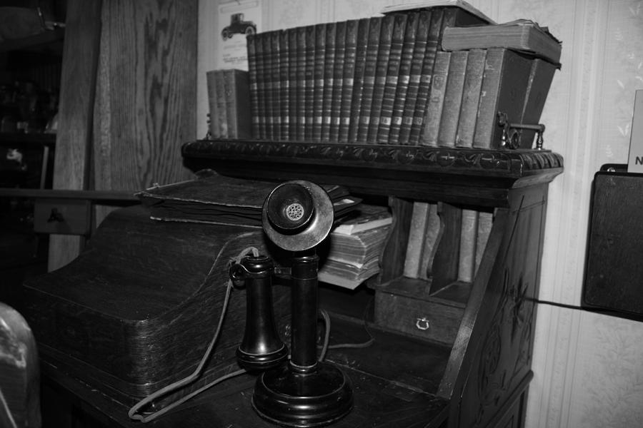 Writing Desk Photograph - Phoning You Back by Cecilia Aumen