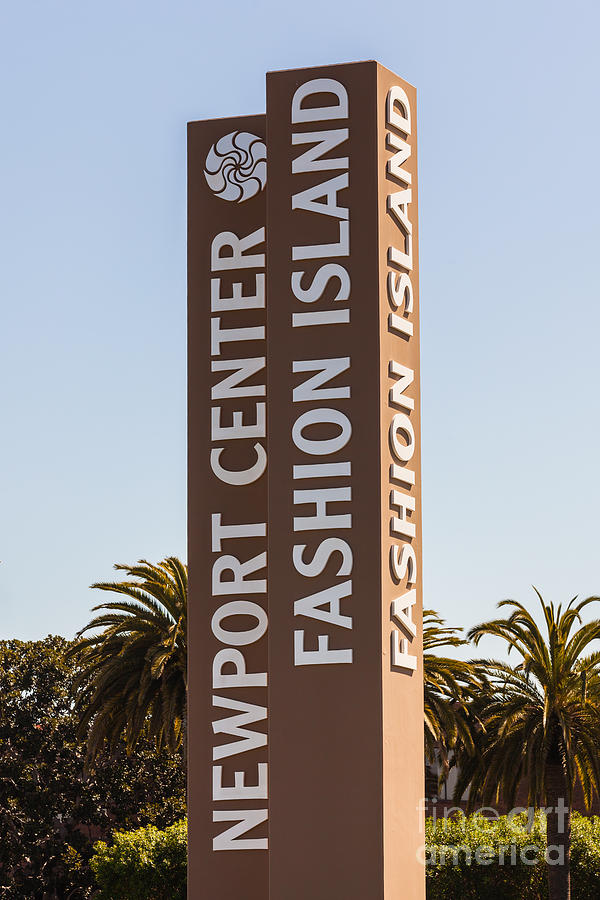 America Photograph - Photo Of Fashion Island Sign In Newport Beach by Paul Velgos