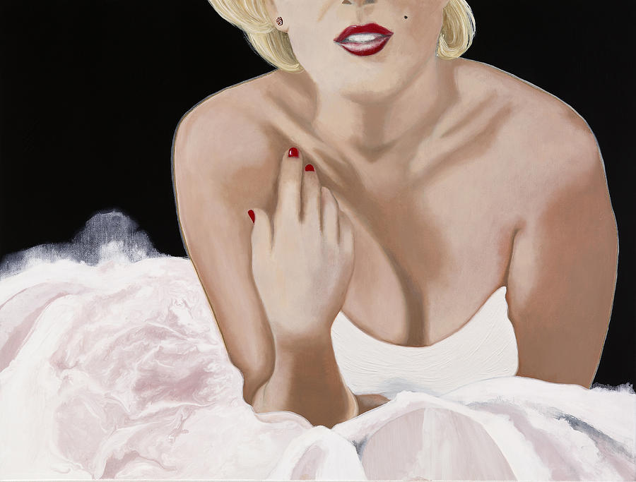 Marilyn Painting - Photo Shoot by Marcella Lassen