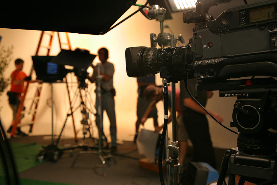 Photo Tv Studio Crew With Camera Photograph by Dpmike