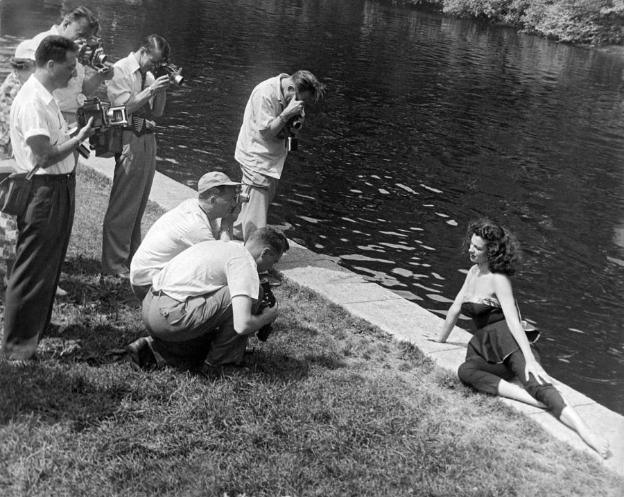 1953 Photograph - Photogenic Photo Shoot by Underwood Archives