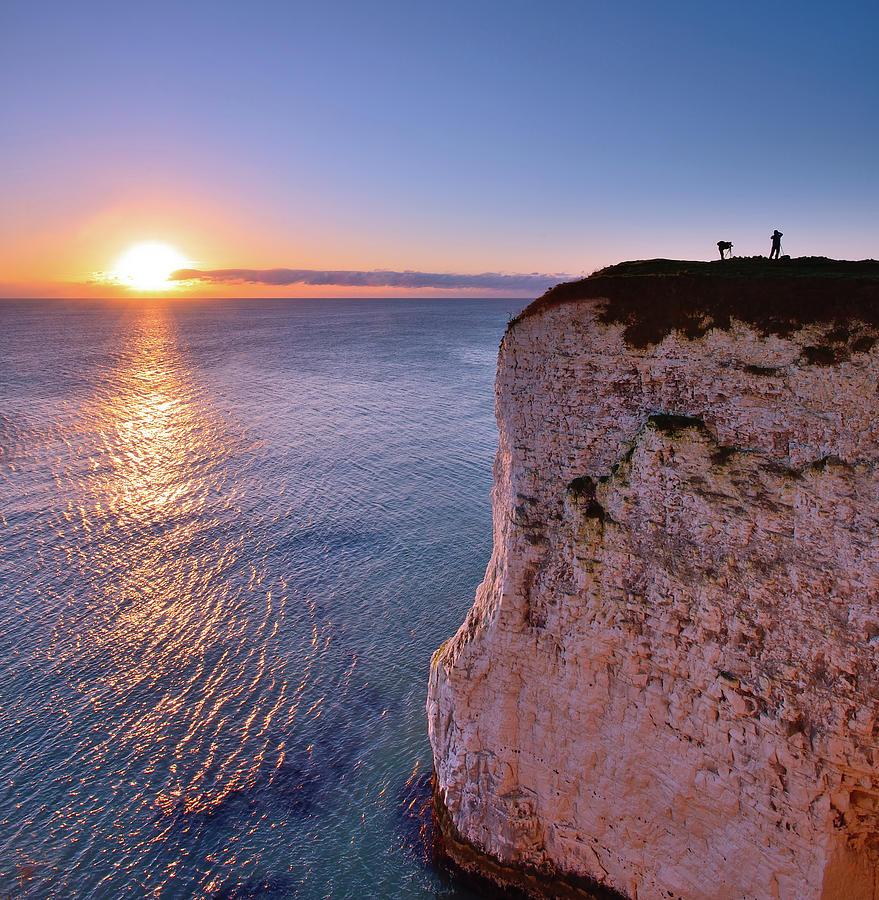 Photographers At Dawn. Studland Dorset Photograph by Andreas Jones