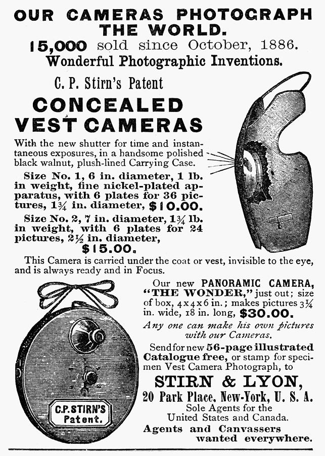 1889 Painting - Photography Camera, 1889 by Granger