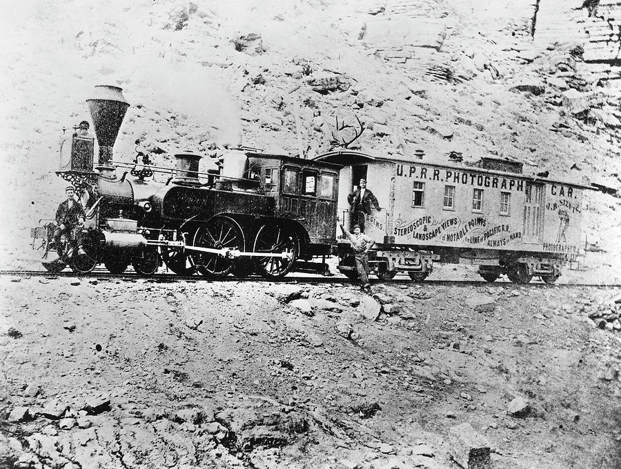 1868 Photograph - Photography Railroad Car by Granger