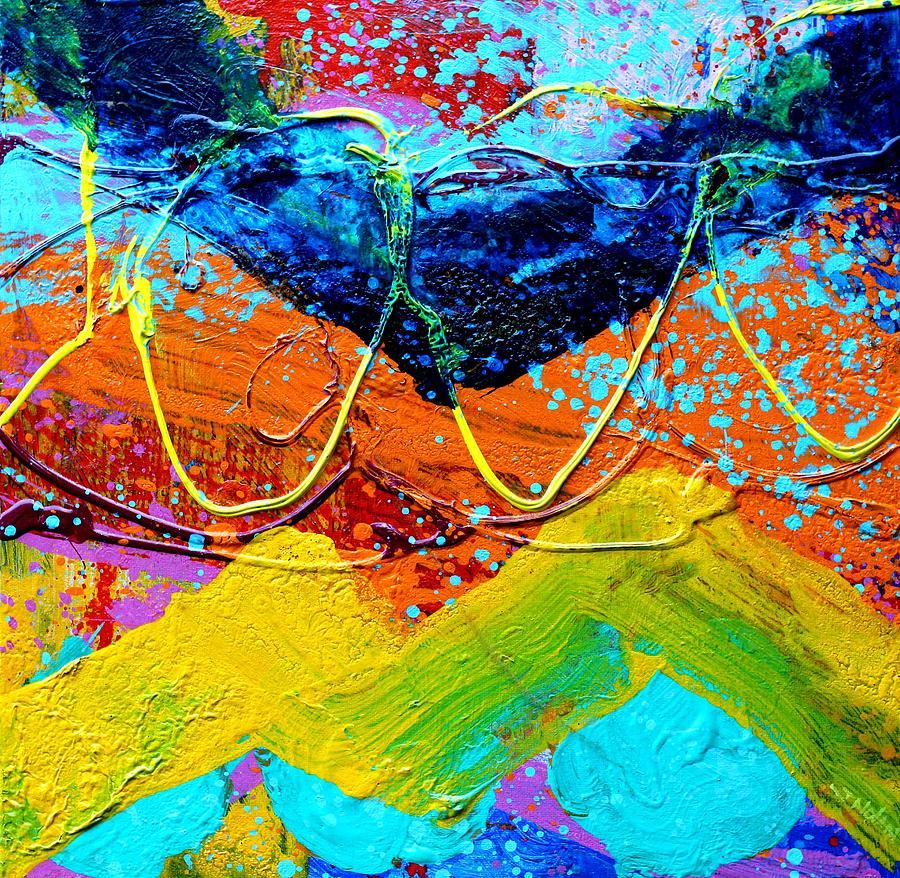 Abstract Painting - Phthalo Chevron by John  Nolan