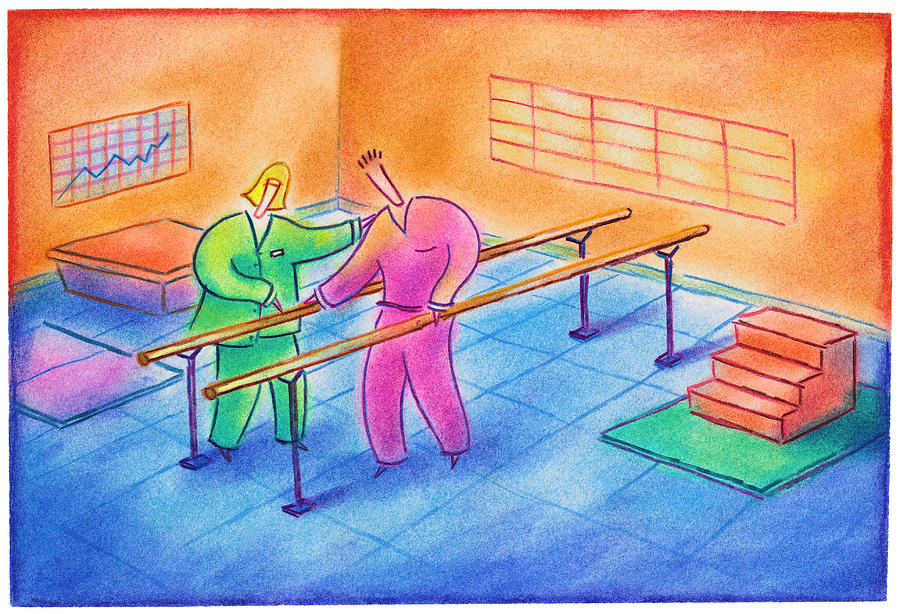 Physical Therapy Patient Drawing by Craig Smallish