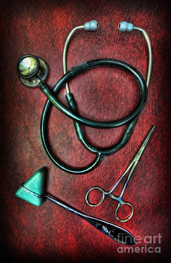 Reflex Hammer Photograph - Physicians Tools  by Lee Dos Santos