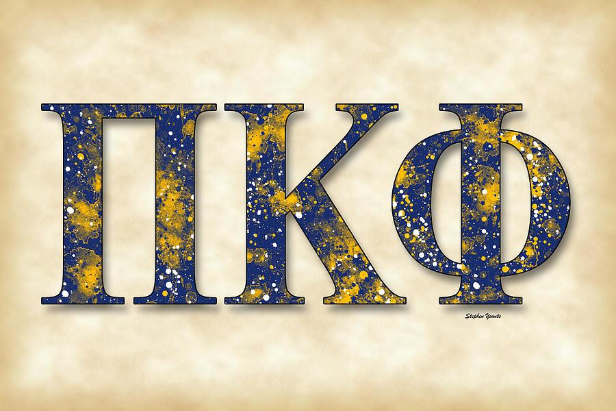 Pi Kappa Phi Digital Art - Pi Kappa Phi - Parchment by Stephen Younts