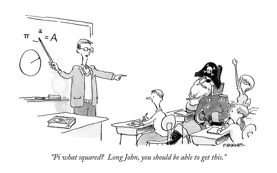Pi What Squared?  Long John Drawing by Pat Byrnes