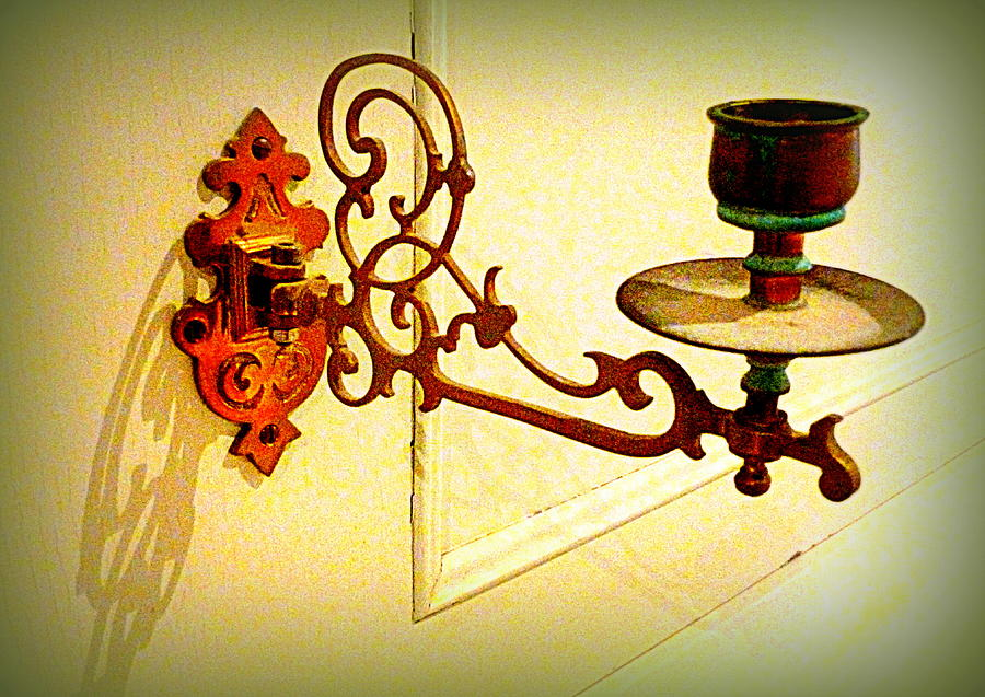 Retro Photograph - Piano Candle Holder by The Creative Minds Art and Photography