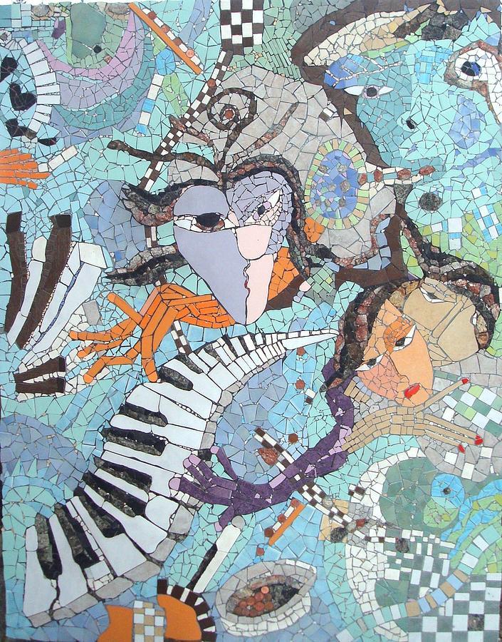 Mosaic Ceramic Art - Piano Carneval by Cigler Struc