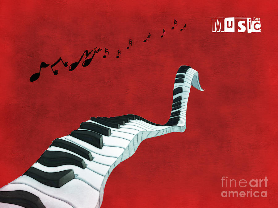 Piano Digital Art - Piano Fun - S01at01 by Variance Collections