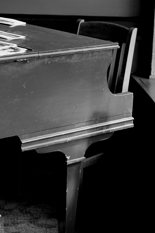 Piano In Black And White Photograph by Cathy Anderson
