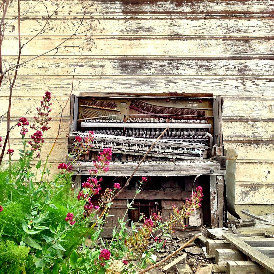 Old Photograph - Piano by Julie Gebhardt