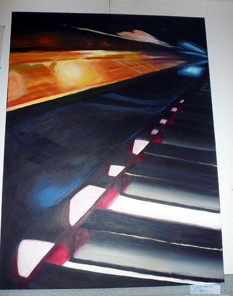 Piano Painting - Piano by Lauren  Pecor