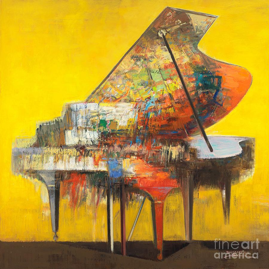 Colorful Painting - piano No.19 by Zheng Li