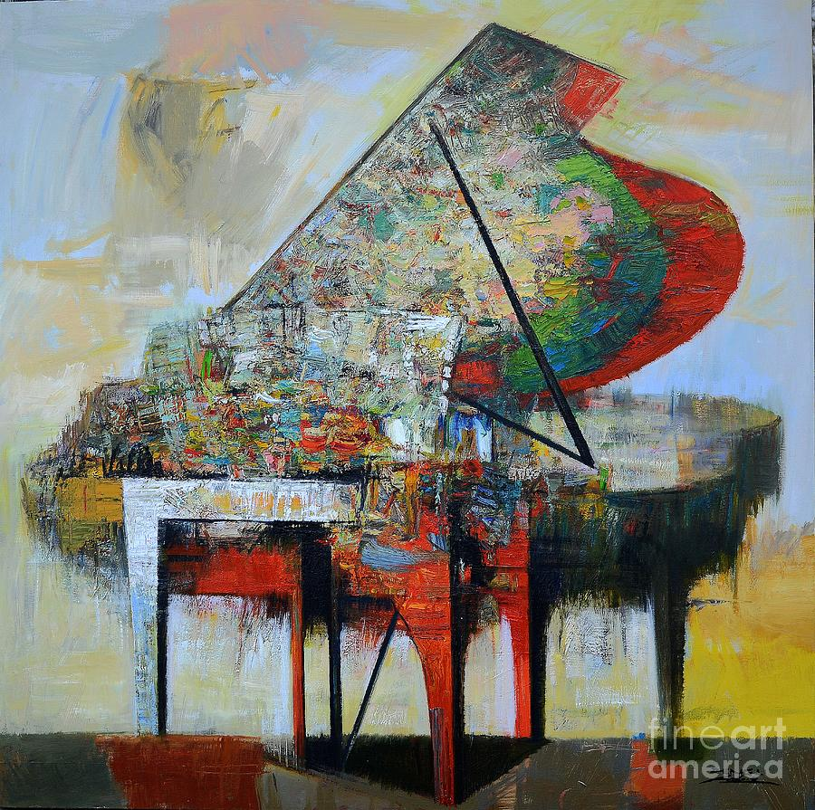 Music Painting - piano No.51-Symphony by Zheng Li