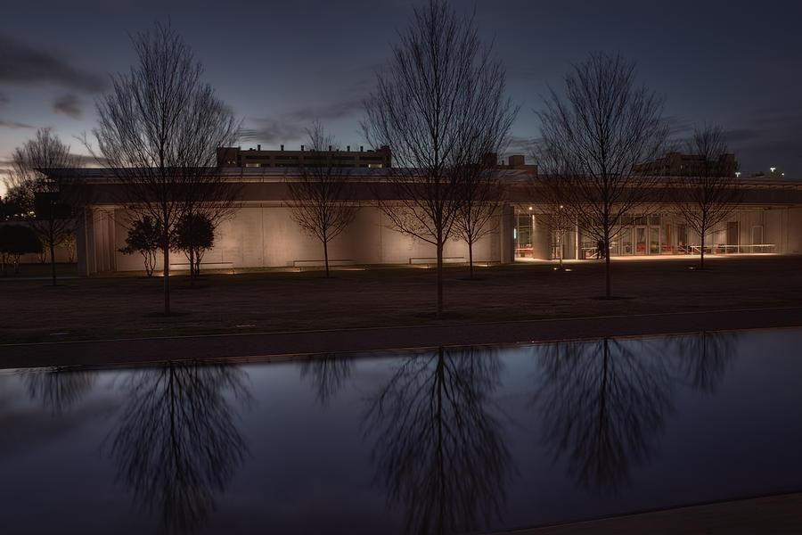 Joan Carroll Photograph - Piano Pavilion Night Reflections by Joan Carroll