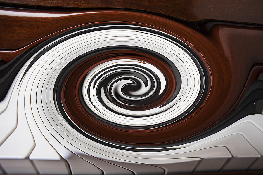 Piano Photograph - Piano Swirl by Garry Gay
