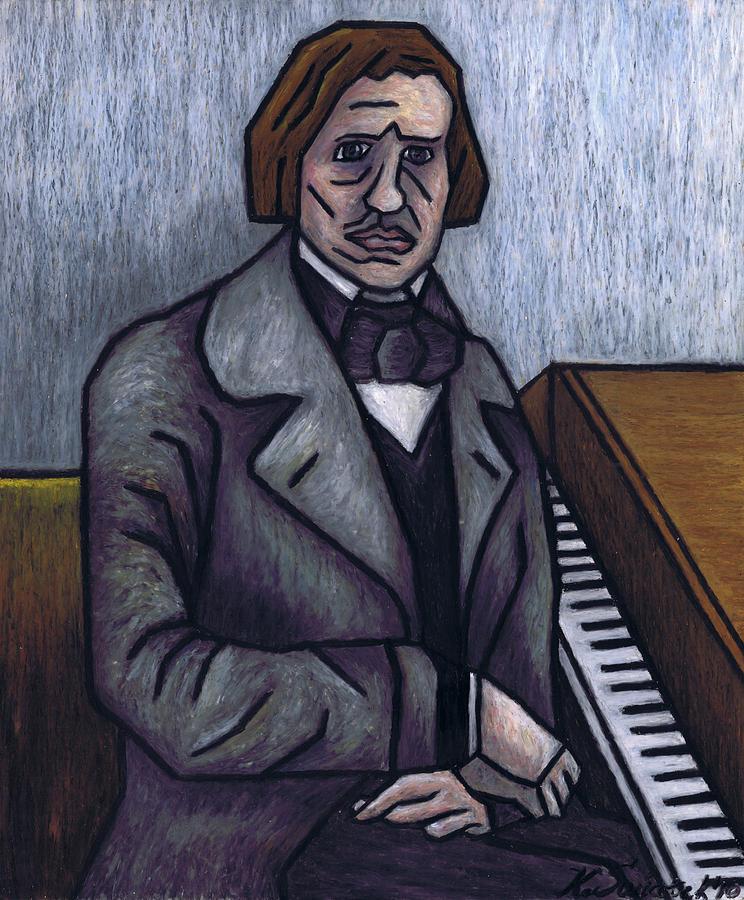 Chopin Painting - Pianos Finest Poet Fryderyk Chopin by Kamil Swiatek