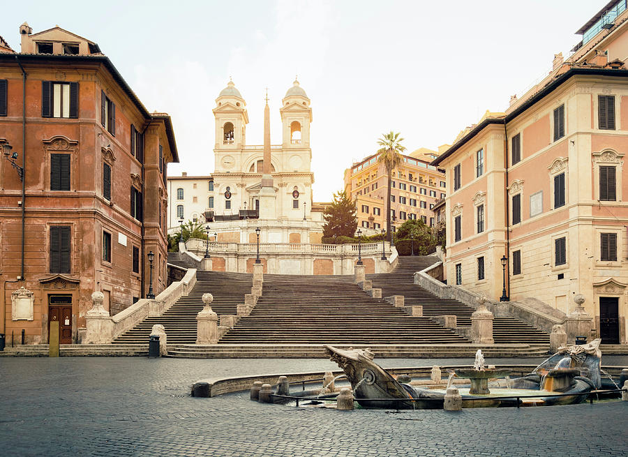 Steps Photograph - Piazza Di Spagna, Spanish Steps, Rome by Spooh