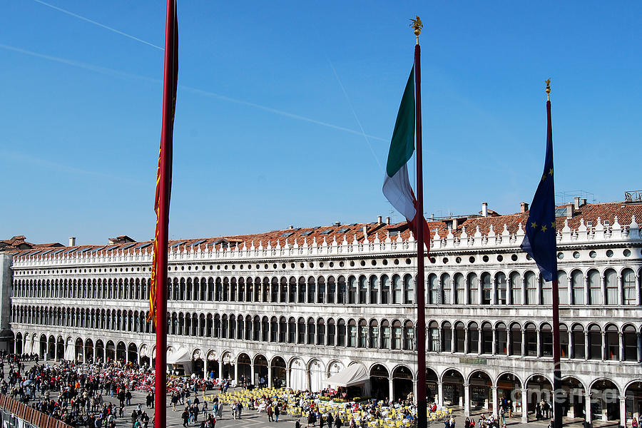 Piazza San Marco Digital Art - Piazza San Marco  by Eva Kaufman