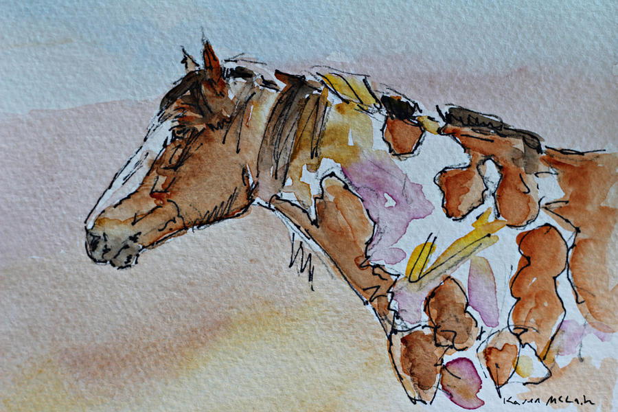 Wild Horse Painting - Picasso by Karen McLain