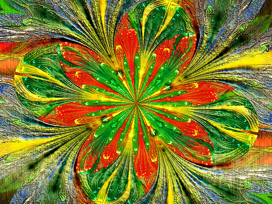 Fractal Digital Art - Picasso Made Me Do It by Janet Russell