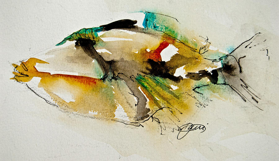 Fish Painting - Picasso Trigger by Jani Freimann