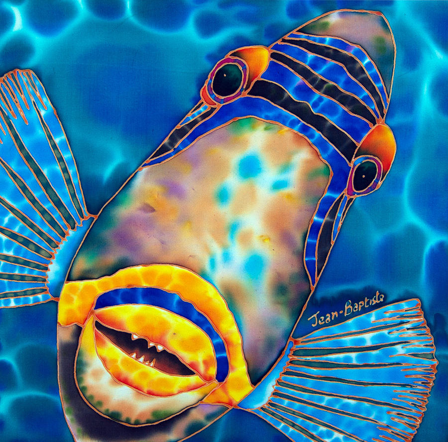 Picasso Triggerfish Painting By Daniel Jean Baptiste