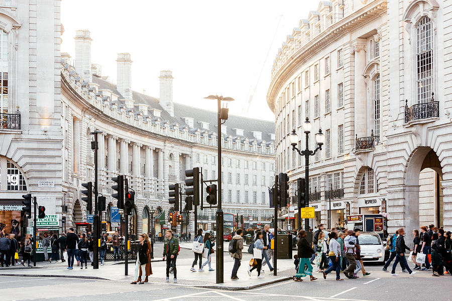 Piccadilly Circus and Regent Street in London, England, UK Photograph by Alexander Spatari