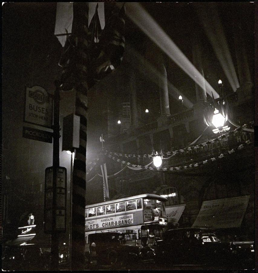 Piccadilly Circus Photograph by Roger Schall