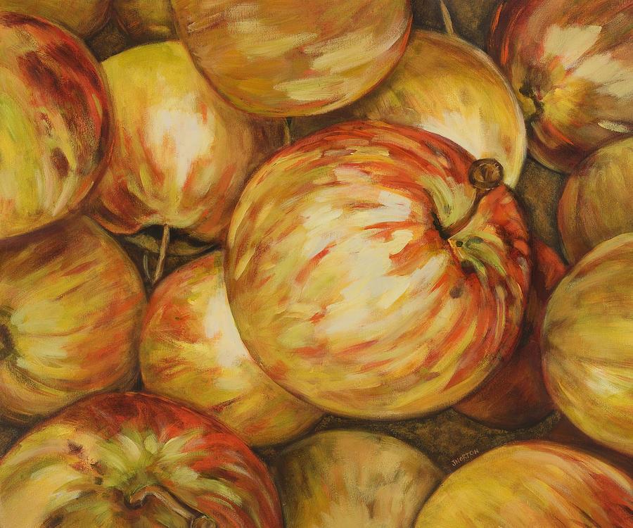 Apples Painting - Pick Me by Jen Norton