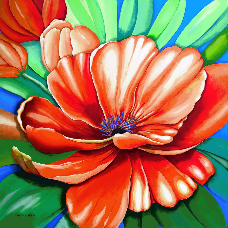Acrylic Painting - Pick Me Poppy by Carol Sabo